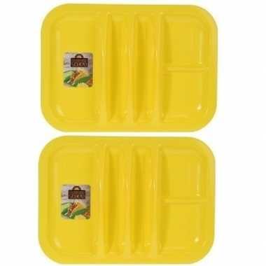 Goedkope 2x geel borden 5 vakken 26 barbecue