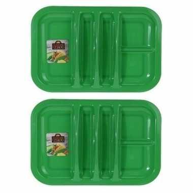 Goedkope 2x groen bord 5 vakken 26 barbecue