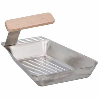 Goedkope 4x barbecue pan rvs 25 16