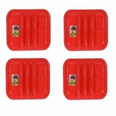 Goedkope 4x rood bord 5 vakken 26 barbecue