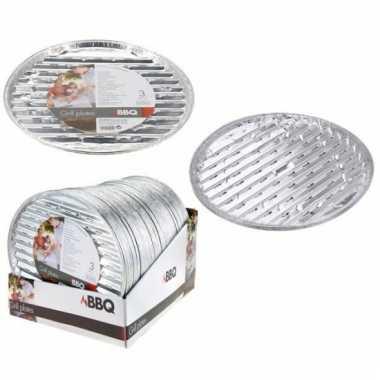 Goedkope  Aluminium barbecue grillschalen rond 3 stuks