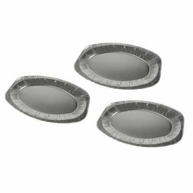 Goedkope aluminium saladeschalen 6x stuks barbecue