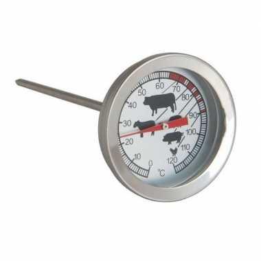 Goedkope analoge vleesthermometer / keuken thermometer rvs barbecue