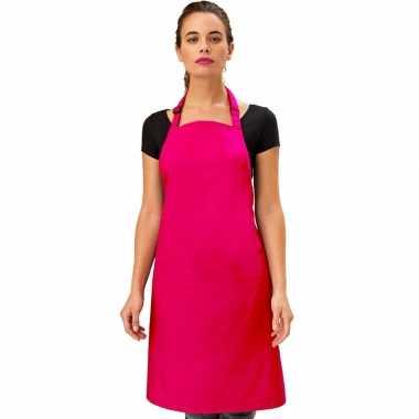 Goedkope basic keukenschort roze barbecue