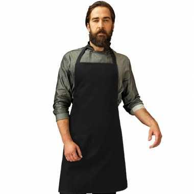 Goedkope basic keukenschort zwart barbecue