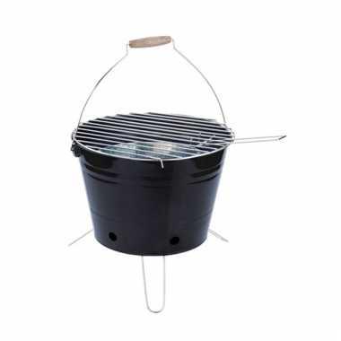 Goedkope  Emmer barbecue zwart pootjes 30