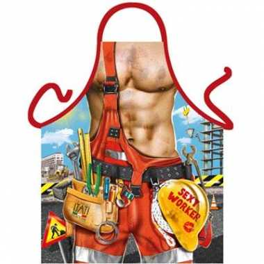 Goedkope  Funartikel schort Bouwvakker barbecue