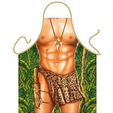 Goedkope  Funartikel schort Tarzan barbecue