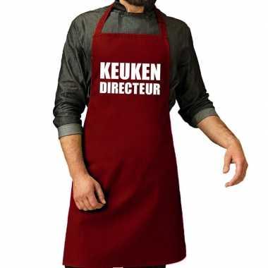 Goedkope keuken directeur barbecue schort / keukenschort bordeaux roo