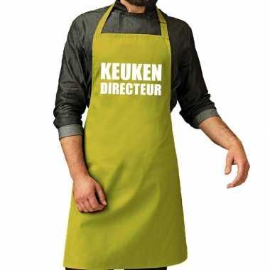 Goedkope keuken directeur barbecue schort / keukenschort lime groen h
