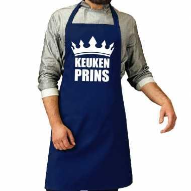 Goedkope keuken prins barbecue schort / keukenschort kobalt heren