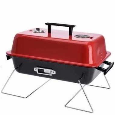 Goedkope metalen bbq gaardeksel rood/zwart 28 43 barbecue