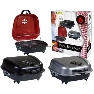 Goedkope  Tafel barbecue koffer zilver 41 42
