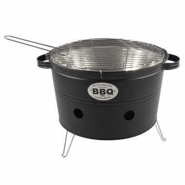 Goedkope zwarte barbecue/bbq tafelmodel 33 houtskool