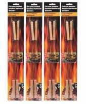 Goedkope 16x bbq spiezen houten handvat 38 barbecue