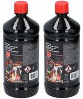 Goedkope 2x barbecue bbq aanmaakvloeistof 1 liter