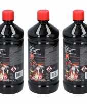 Goedkope 3x barbecue bbq aanmaakvloeistof 1 liter