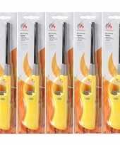 Goedkope 5x navulbare bbq aansteker geel 26 barbecue