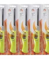Goedkope 5x navulbare bbq aansteker lime groen 26 barbecue