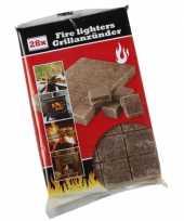 Goedkope aanmaakblokjes bruin bbq 28 stuks barbecue