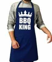 Goedkope bbq king barbecue schort keukenschort kobalt blauw heren